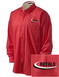 Queen Anne Christian School Royals Embroidered Men's Easy-Care Shirt