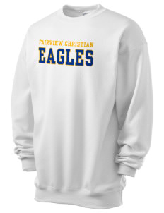 Fairview Christian School Eagles Men's 7.8 oz Lightweight Crewneck Sweatshirt