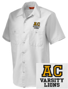 Arlington Christian School Lions Embroidered Men's Cornerstone Industrial Short Sleeve Work Shirt