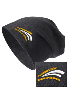 Soundview Private School Dolphins Embroidered Slouch Beanie