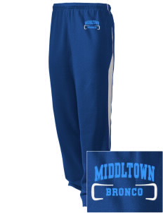 Middltown Middle School bronco Embroidered Holloway Men's Pivot Warm Up Pants
