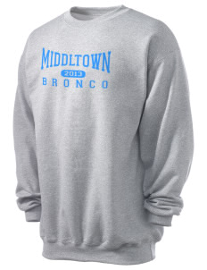 Middltown Middle School bronco Men's 7.8 oz Lightweight Crewneck Sweatshirt