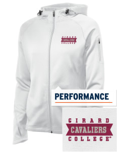 Girard College Cavaliers Embroidered Women's Tech Fleece Full-Zip Hooded Jacket