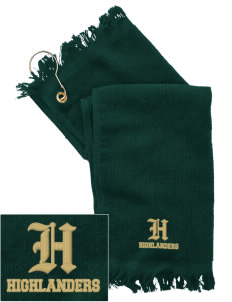 Howell High School Highlanders  Embroidered Grommeted Finger Tip Towel
