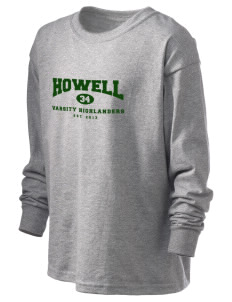 Howell High School Highlanders Kid's 6.1 oz Long Sleeve Ultra Cotton T-Shirt
