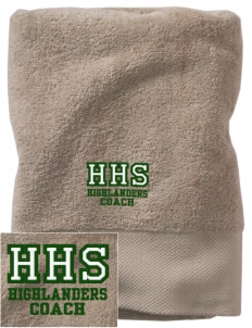 Howell High School Highlanders Embroidered Zero Twist Resort Towel