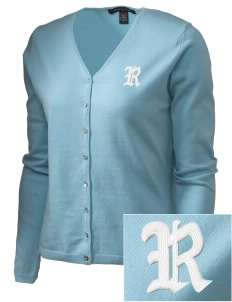 Ridgevalley School  Embroidered Women's Stretch Cardigan Sweater