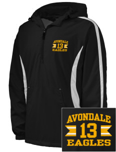 Avondale Elementary School Eagles Embroidered Men's Colorblock Raglan Anorak