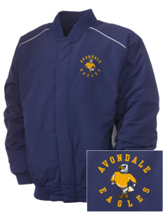 Avondale Elementary School Eagles Embroidered Russell Men's Baseball Jacket