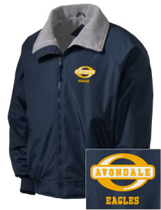 Avondale Elementary School Eagles Embroidered Men's Fleece-Lined Jacket