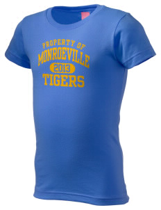 Monroeville Elementary School Tigers  Girl's Fine Jersey Longer Length T-Shirt