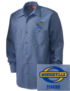 Monroeville Elementary School Tigers Embroidered Men's Industrial Work Shirt - Regular