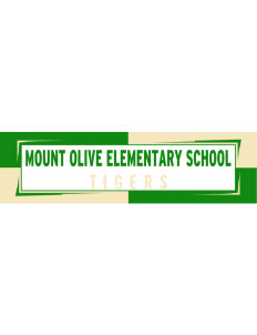 "Mount Olive Elementary School Tigers Bumper Sticker 11"" x 3"""