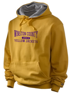 Winston County High School Yellow Jackets Champion Men's Hooded Sweatshirt