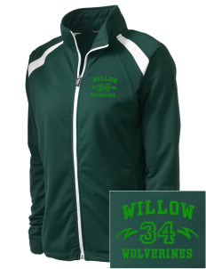 Willow Elementary School Wolverines Embroidered Women's Tricot Track Jacket