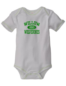 Willow Elementary School Wolverines Baby Zig-Zag Creeper