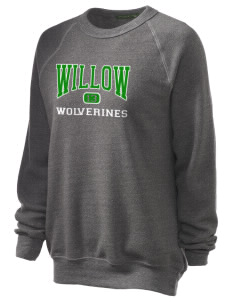 Willow Elementary School Wolverines Unisex Alternative Eco-Fleece Raglan Sweatshirt