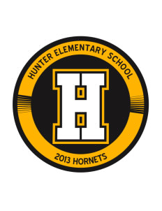 Hunter Elementary School Hornets Sticker