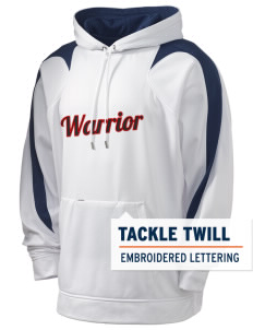 Howard D. Woodson Sr. High Warrior Holloway Men's Sports Fleece Hooded Sweatshirt with Tackle Twill