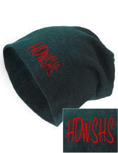 Howard D. Woodson Sr. High Warrior Embroidered Slouch Beanie
