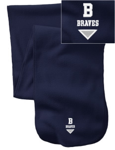 Baldwin Academy Braves  Embroidered Extra Long Fleece Scarf