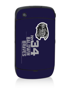 Baldwin Academy Braves Black Berry 8530 Curve Skin