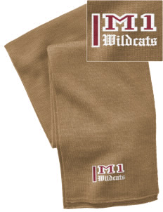 Madison 1 Middle School Wildcats  Embroidered Knitted Scarf