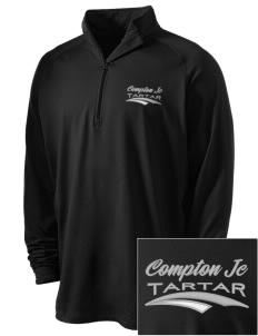 compton jc tartar Embroidered Men's Stretched Half Zip Pullover