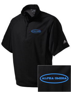 Alpha Omega Academy We don't have one.  We have a logo Embroidered adidas Men's ClimaProof Wind Shirt