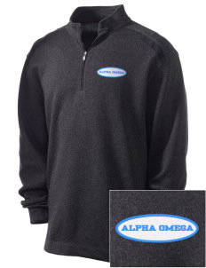Alpha Omega Academy We don't have one.  We have a logo Embroidered Nike Men's Golf Heather Cover Up