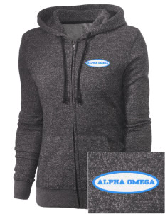 Alpha Omega Academy We don't have one.  We have a logo Embroidered Women's Marled Full-Zip Hooded Sweatshirt