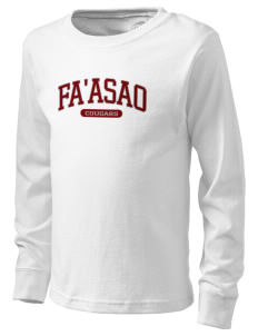 fa'asao high cougars  Kid's Long Sleeve T-Shirt