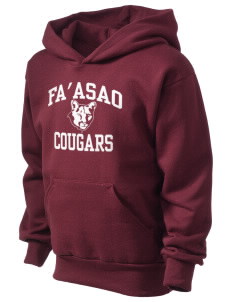 fa'asao high cougars Kid's Hooded Sweatshirt