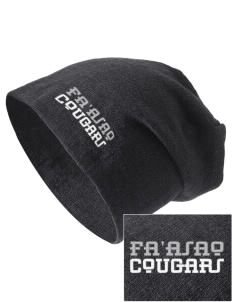 fa'asao high cougars Embroidered Slouch Beanie