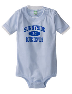 Sunnyside High School Blue Devils Baby One-Piece with Shoulder Snaps