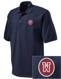 Normatives Services Prep School Wolves Embroidered Tall Men's Pique Polo