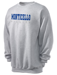 Monticello High School Billies Men's 7.8 oz Lightweight Crewneck Sweatshirt