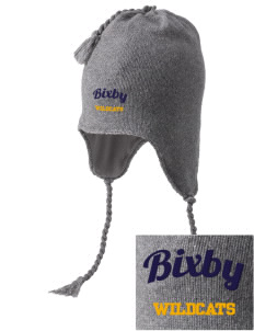Bixby Elementary School Wildcats Embroidered Knit Hat with Earflaps