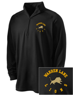 Warren Lane Elementary School Lions Embroidered Men's Stretched Half Zip Pullover