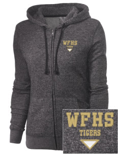West Fork High School Tigers Embroidered Women's Marled Full-Zip Hooded Sweatshirt