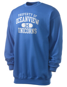 Oceanview Elementary School Unicorns Men's 7.8 oz Lightweight Crewneck Sweatshirt