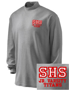 Skyline High School Titans Embroidered Men's Interlock Knit Mock Turtleneck