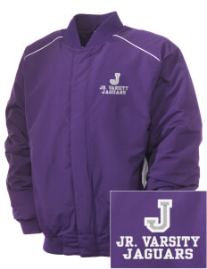 Jefferson Elementary School Jaguars Embroidered Russell Men's Baseball Jacket