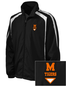 Marsh Elementary School Tigers Embroidered Men's Colorblock Raglan Jacket