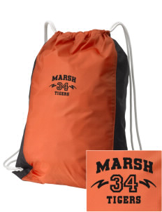 Marsh Elementary School Tigers Embroidered Holloway Home and Away Cinch Bag