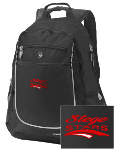 Stege Elementary School Stars Embroidered OGIO Carbon Backpack