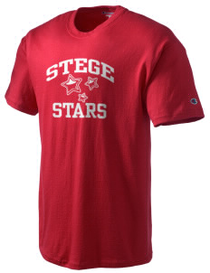 Stege Elementary School Stars Champion Men's Tagless T-Shirt