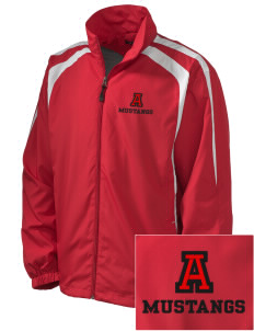 Alamo Elementary School Mustangs Embroidered Men's Colorblock Raglan Jacket