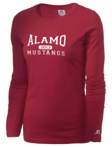Alamo Elementary School Mustangs  Russell Women's Long Sleeve Campus T-Shirt