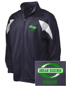 Indian Diggings Elementary School Eagles Embroidered Holloway Men's Full-Zip Track Jacket